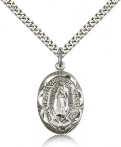 Our Lady of Guadalupe Medal, Sterling Silver [BL4866]