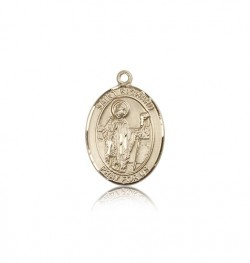 St. Richard Medal, 14 Karat Gold, Medium [BL3232]