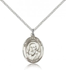 St. Francis De Sales Medal, Sterling Silver, Medium [BL1823]