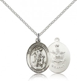 Guardian Angel Army Medal, Sterling Silver, Medium [BL0080]