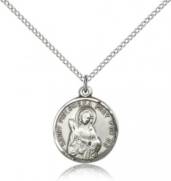 St. Philomena Medal, Sterling Silver [BL6200]