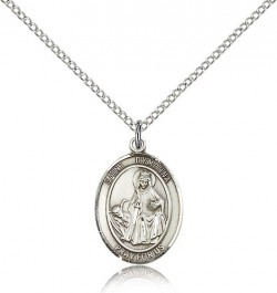 St. Dymphna Medal, Sterling Silver, Medium [BL1644]