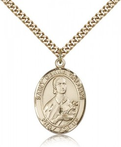 St. Gemma Galgani Medal, Gold Filled, Large [BL1864]