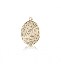 Our Lady of Prompt Succor Medal, 14 Karat Gold, Medium [BL0427]