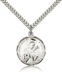 St. Francis of Assisi Medal, Sterling Silver [BL4160]