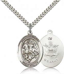 St. George Army Medal, Sterling Silver, Large [BL1903]