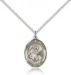 Our Lady of Mercy Medal, Sterling Silver, Medium [BL0388]