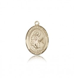 Our Lady of Mercy Medal, 14 Karat Gold, Medium [BL0382]