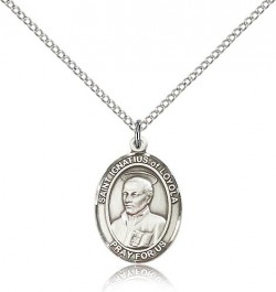 St. Ignatius of Loyola Medal, Sterling Silver, Medium [BL2086]