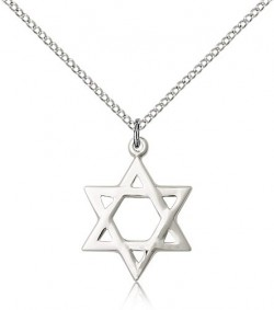 Star of David Medal, Sterling Silver [BL5147]