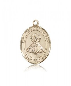 Our Lady of San Juan Medal, 14 Karat Gold, Large [BL0444]