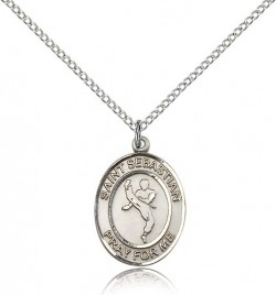 St. Sebastian Martial Arts Medal, Sterling Silver, Medium [BL3499]