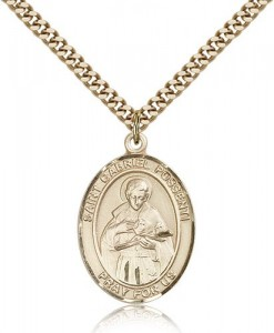 St. Gabriel Possenti Medal, Gold Filled, Large [BL1846]