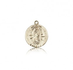 Our Lady of Guadalupe Medal, 14 Karat Gold [BL6097]