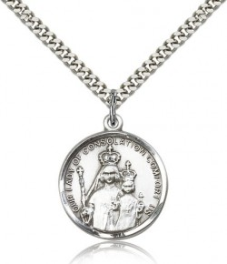 Our Lady of Consolation Medal, Sterling Silver [BL4063]