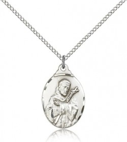 St. Francis Medal, Sterling Silver [BL4504]