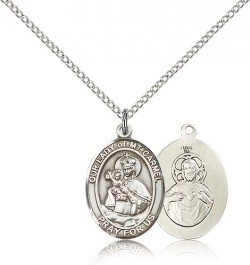 Our Lady of Mount Carmel Medal, Sterling Silver, Medium [BL0397]