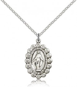 Miraculous Medal, Sterling Silver [BL5297]