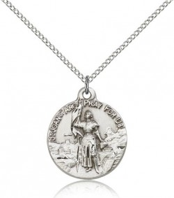 St. Joan of Arc Medal, Sterling Silver [BL4208]