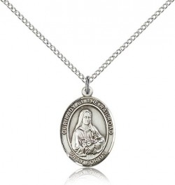 Our Lady of the Railroad Medal, Sterling Silver, Medium [BL0469]