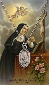 St. Rita of Cascia Medal and Prayer Card Set [MPC0008]