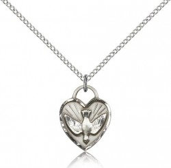 Confirmation Heart Medal, Sterling Silver [BL5574]