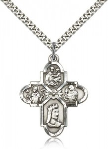 Franciscan 4 Way Cross Pendant, Sterling Silver [BL6501]