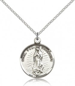 Our Lady of Guadalupe Medal, Sterling Silver [BL5334]