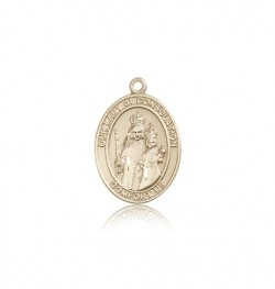 Our Lady of Consolation Medal, 14 Karat Gold, Medium [BL0274]