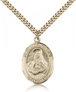 St. Frances Cabrini Medal, Gold Filled, Large [BL1801]