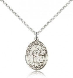 St. Isidore the Farmer Medal, Sterling Silver, Medium [BL2131]