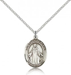 Our Lady of Peace Medal, Sterling Silver, Medium [BL0415]