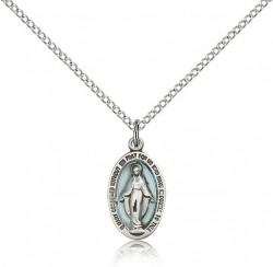 Miraculous Medal, Sterling Silver [BL5803]