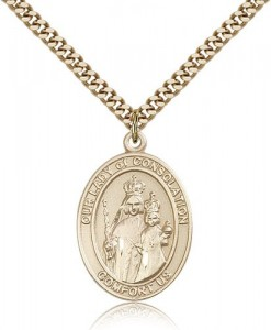 Our Lady of Consolation Medal, Gold Filled, Large [BL0276]
