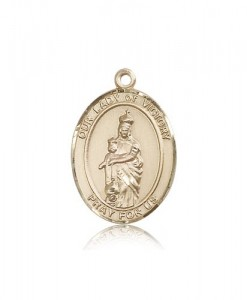 Our Lady of Victory Medal, 14 Karat Gold, Large [BL0471]