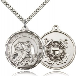 St. Joseph Coast Guard Medal, Sterling Silver [BL4223]