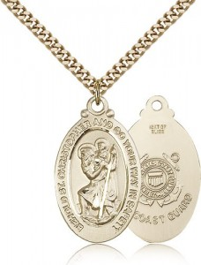 St. Christopher Coast Guard Medal, Gold Filled [BL5911]