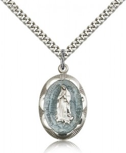 Our Lady of Guadalupe Medal, Sterling Silver [BL4856]