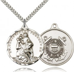 St. Christopher Coast Guard Medal, Sterling Silver [BL4256]