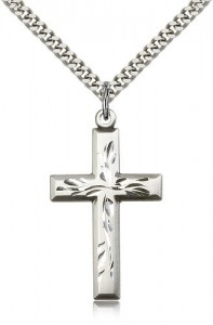 Cross Pendant, Sterling Silver [BL6604]