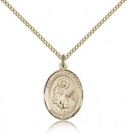 Our Lady of Mercy Medal, Gold Filled, Medium [BL0385]