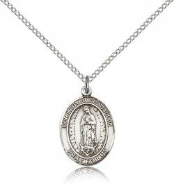 Our Lady of Guadalupe Medal, Sterling Silver, Medium [BL0316]
