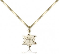 Star of David with Cross Pendant, Gold Filled [BL5151]