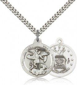 St. Michael Air Force Medal, Sterling Silver [BL4460]
