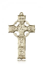 Celtic Cross Pendant, 14 Karat Gold [BL6372]