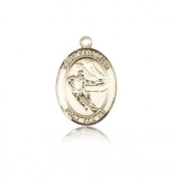 St. Sebastian Hockey Medal, 14 Karat Gold, Medium [BL3469]