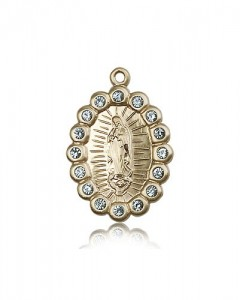 Our Lady of Guadalupe Medal, 14 Karat Gold [BL5299]