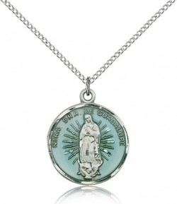 Our Lady of Guadalupe Medal, Sterling Silver [BL5331]