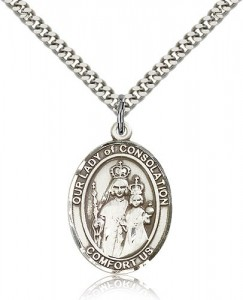 Our Lady of Consolation Medal, Sterling Silver, Large [BL0279]