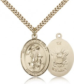 Guardian Angel Navy Medal, Gold Filled, Large [BL0144]